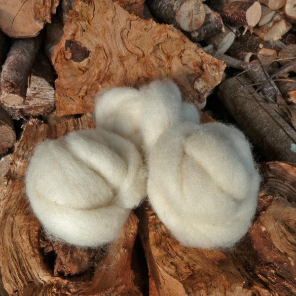 mèche laine cardée ouessant